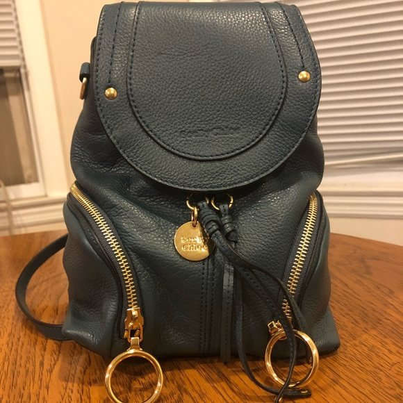 39fe72a2 SEE BY CHLOE Small Olga Backpack Teal NWT
